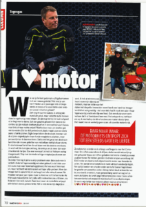 Ad van de Wiel: his article for Moto73, a dutch newspaper about motorcycles!